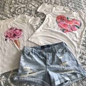 Hollister short and 2 shirts
